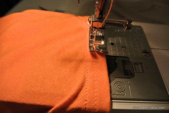 easy orange pumpkin jackolantern dress for girls from a tshirt HousewifeEclectic (26)