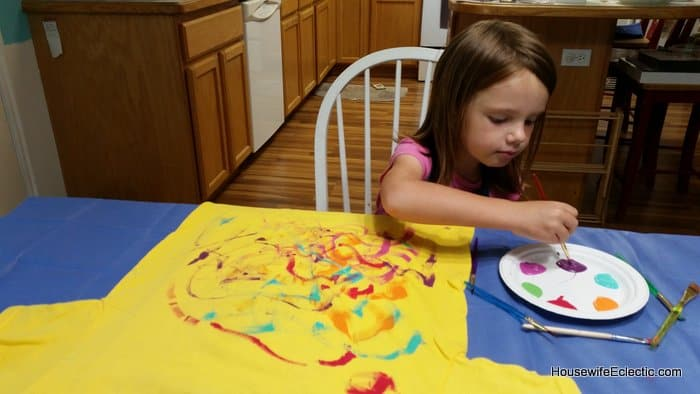 painted tshirt dress for birthdays with matching doll dress HousewifeEclectic (5)