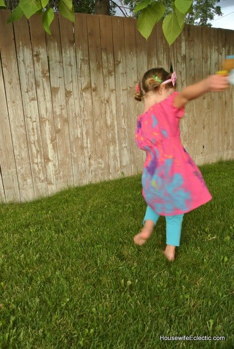 pink comfy play dress custom painted for birthday made from mens t-shirt HousewifeEclectic (2)