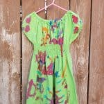 turn a boxy adult mens shirt into a gathered peasant style girls dress for playing HousewifeEclectic (5)