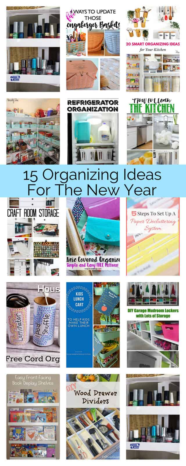 15 Organizing Ideas for the New Year - Housewife Eclectic