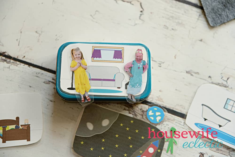 Altoid Tin Play Set: Play house free printable