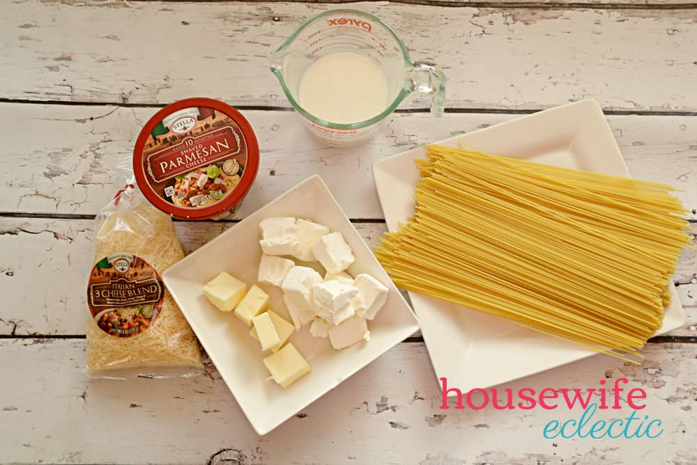 Fast and Easy Alfredo Sauce - Ingredients