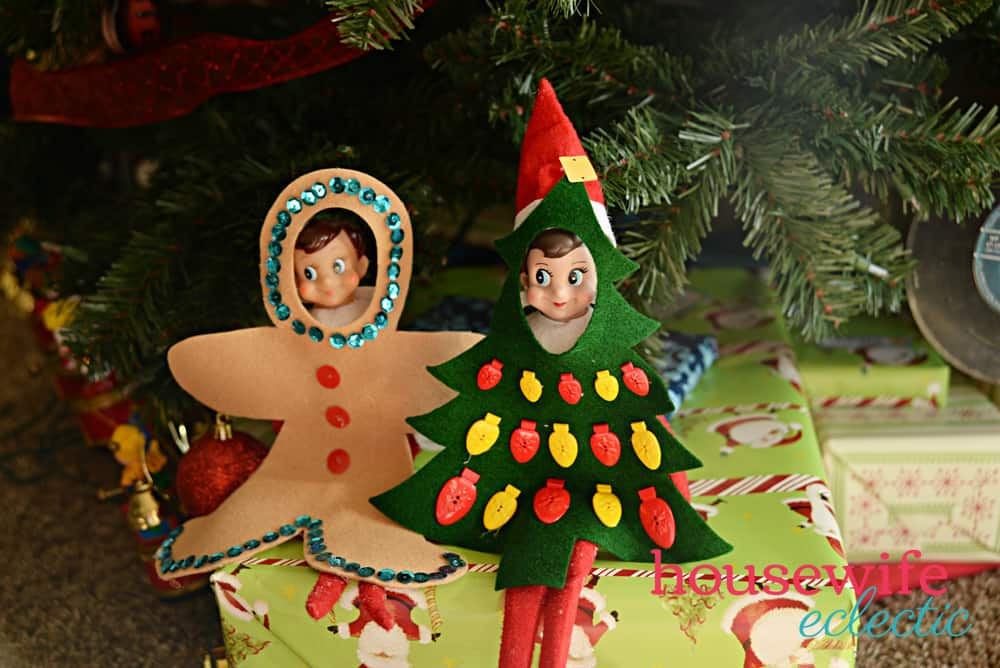 Easy DIY Elf on the Shelf Costumes