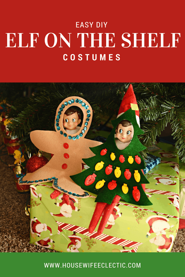 Elf on the Shelf Costumes  - Gingerbread and Tree