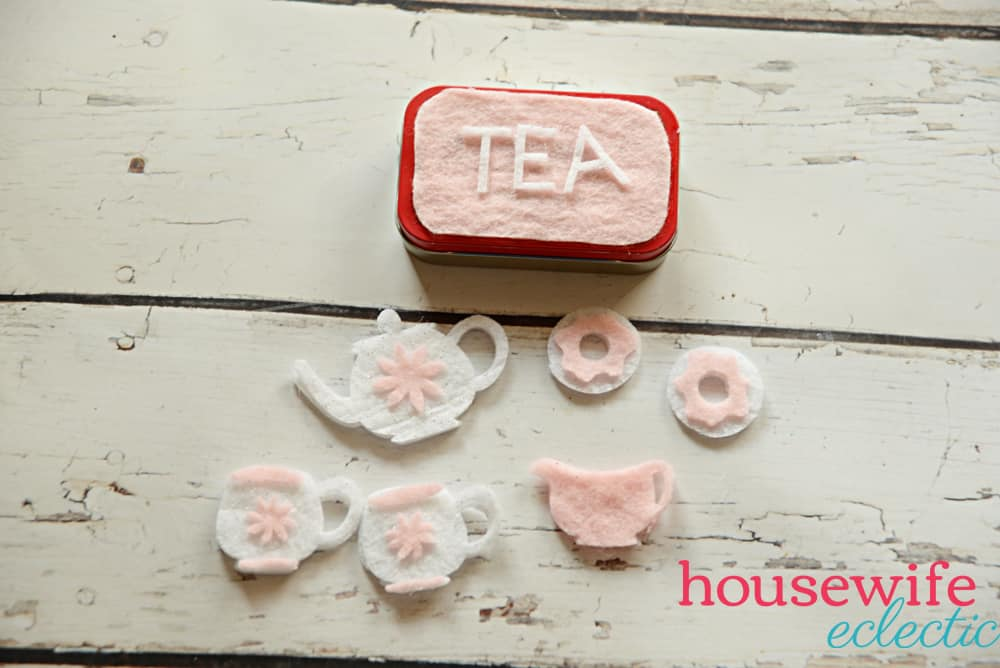 Altoid Tin Play Set: Tea Set