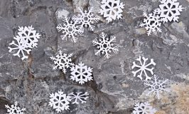 Snowflake Mobile or Backdrop with Cricut