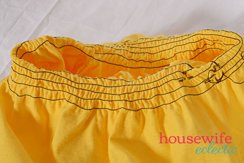 DIY Belle Dress - shirred waist