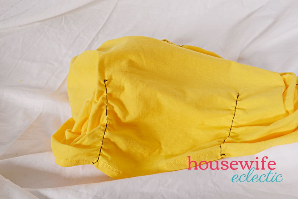 DIY Belle Dress - shirred skirt