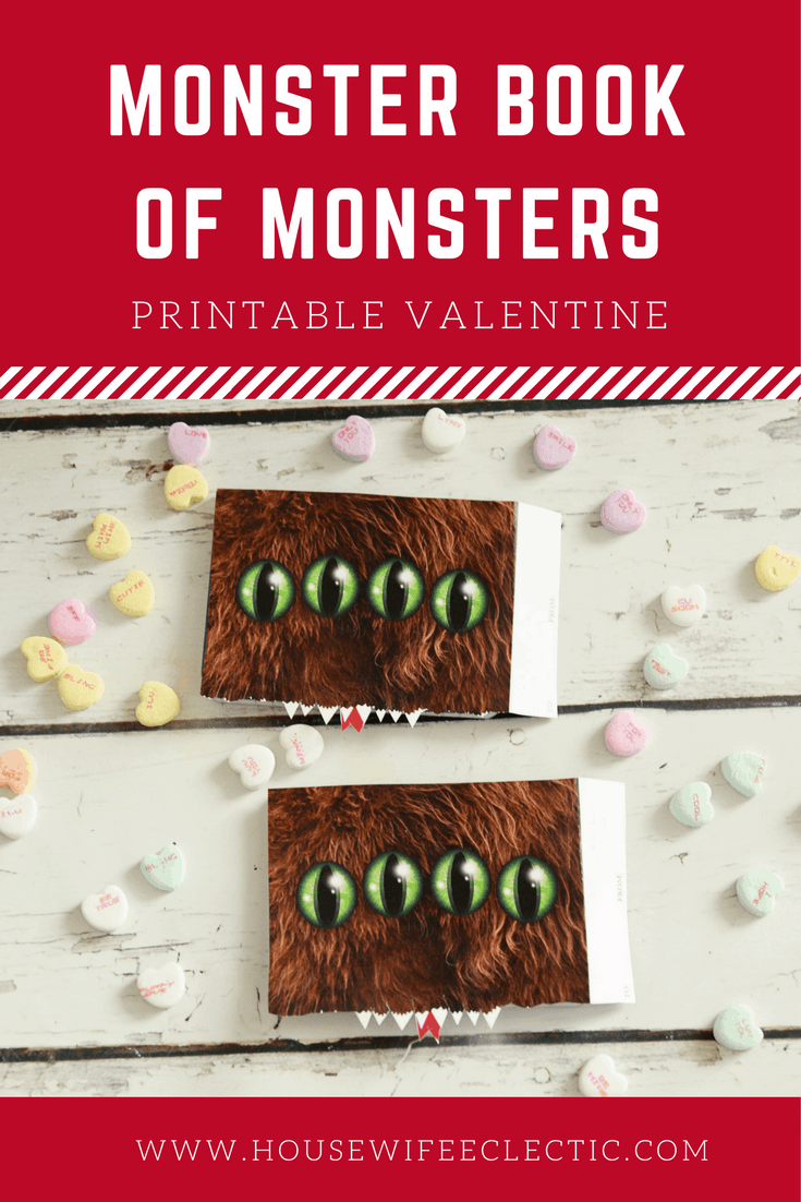 Monster Book of Monsters Printable Valentine