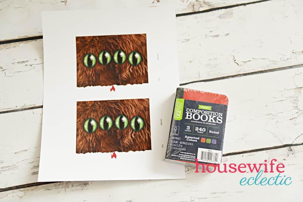 Monster Book of Monsters Printable Valentine