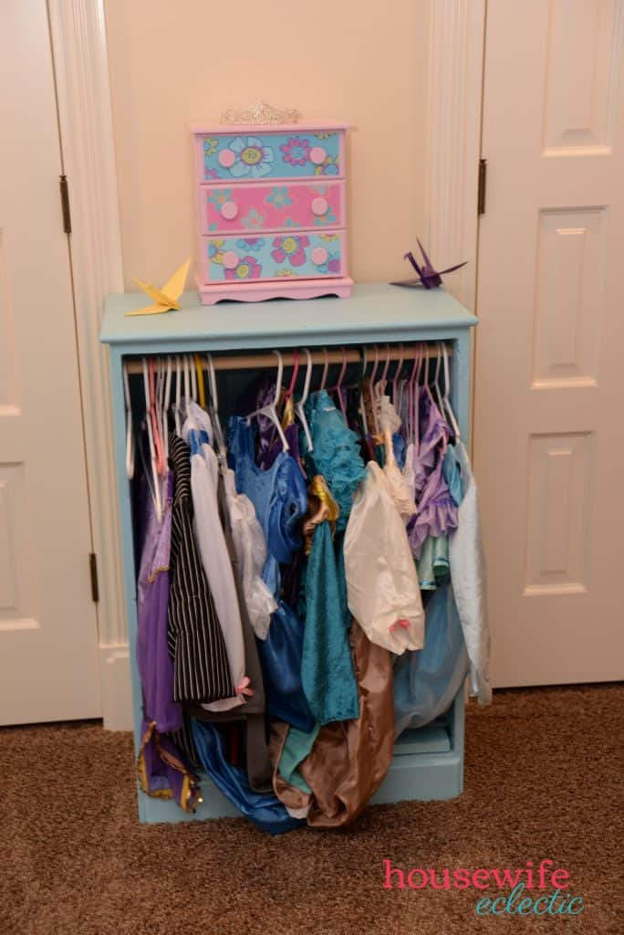 How to Keep Your Child's Room Clean: Dress Up Closet