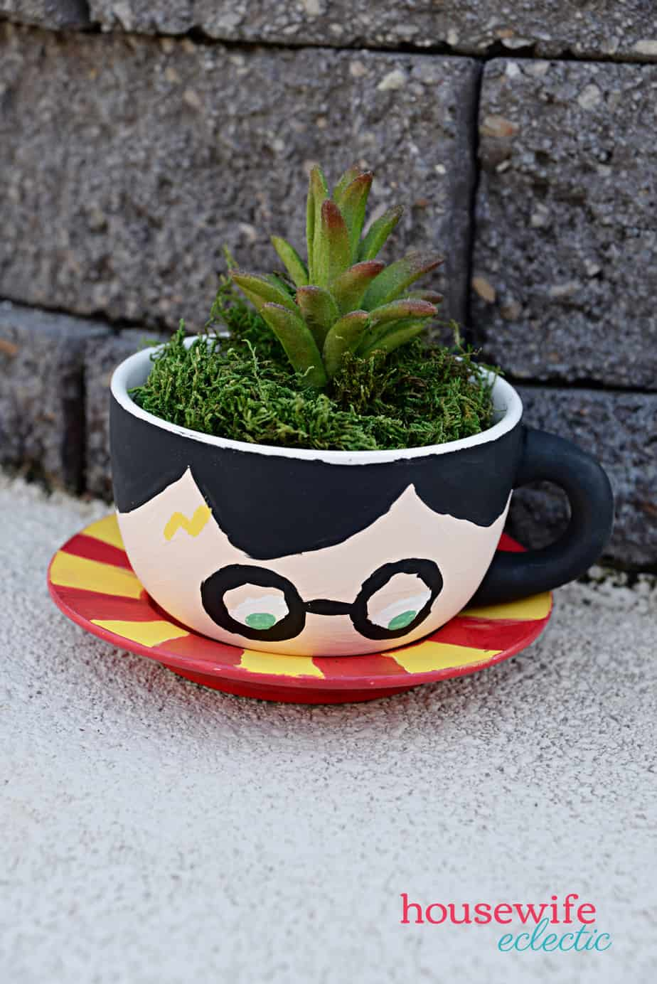Harry Potter Tea Cup Planters