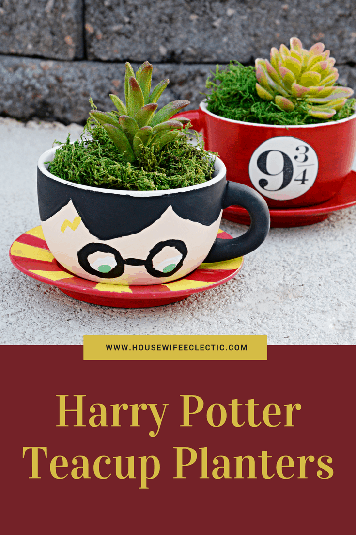 Harry Potter Tea Cup Planters Housewife Eclectic