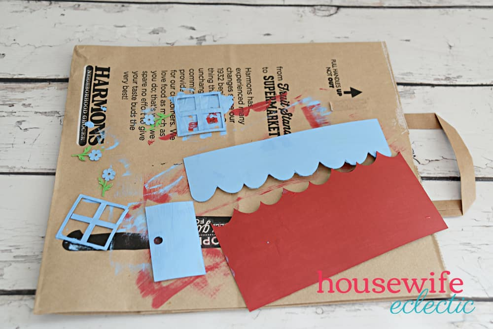 Cereal Box Puppet Theater: House pieces