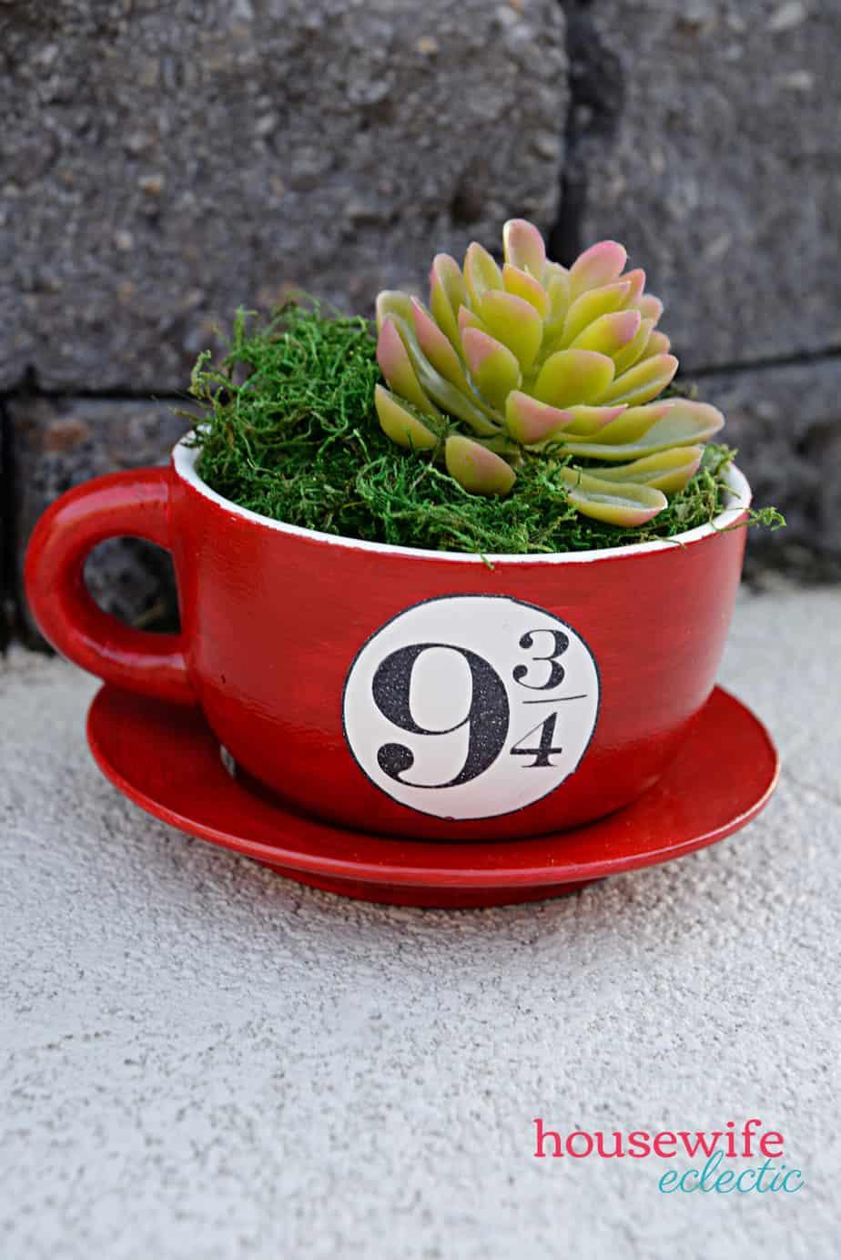 Harry Potter Tea Cup Planters : Platform 9 3/4s Planter