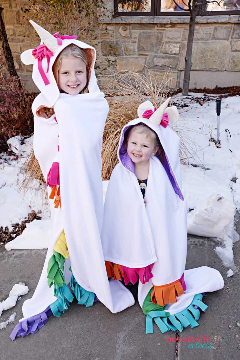 How to Make a Hooded Unicorn Blanket