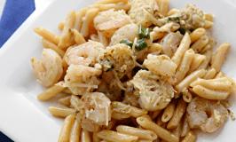 Easy Pesto Shrimp Scampi