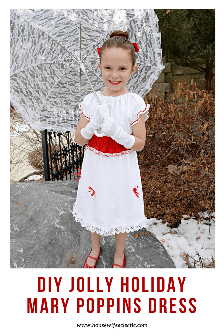 DIY Mary Poppins Dress for Little Girls