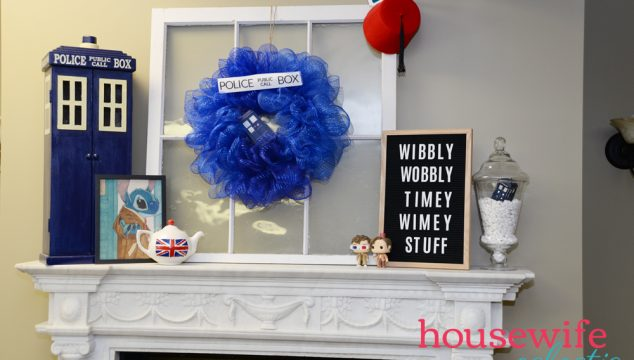 Doctor Who Mantel with Tardis Wreath
