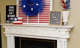 Patriotic Mantel for the 4th of July