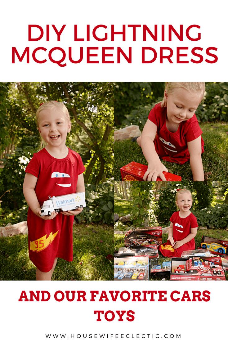 DIY Lightning McQueen Dress