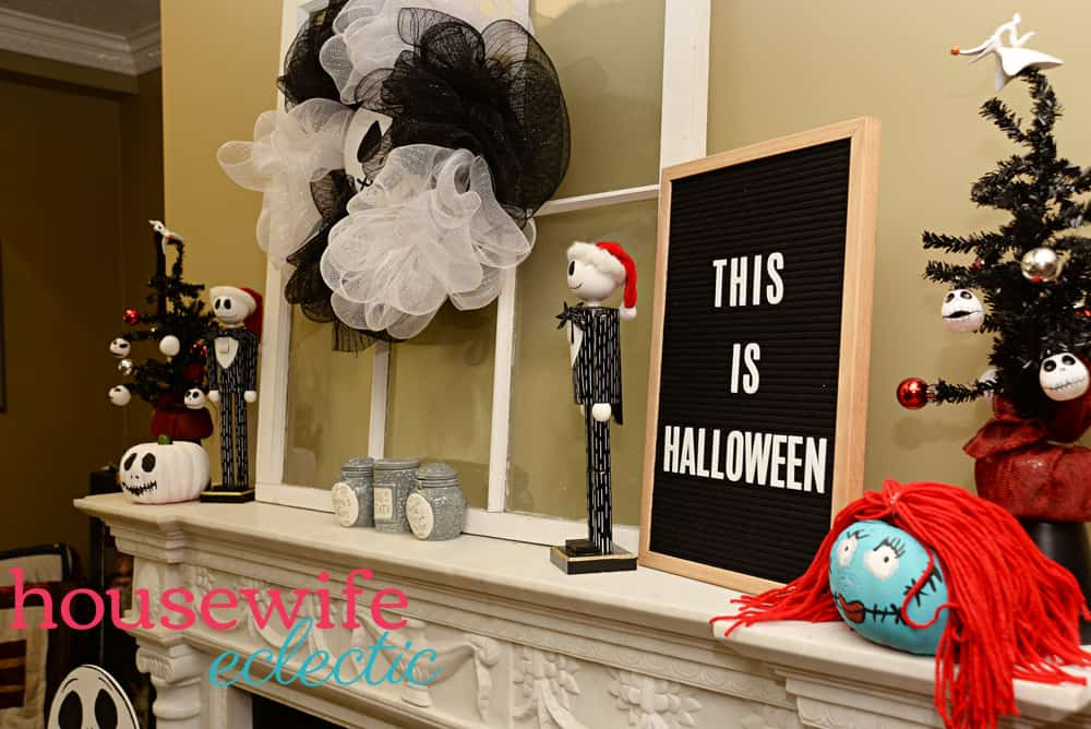 Nightmare Before Christmas Mantel