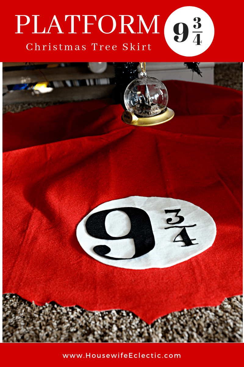 Platform 9 and 3/4 Christmas Tree Skirt