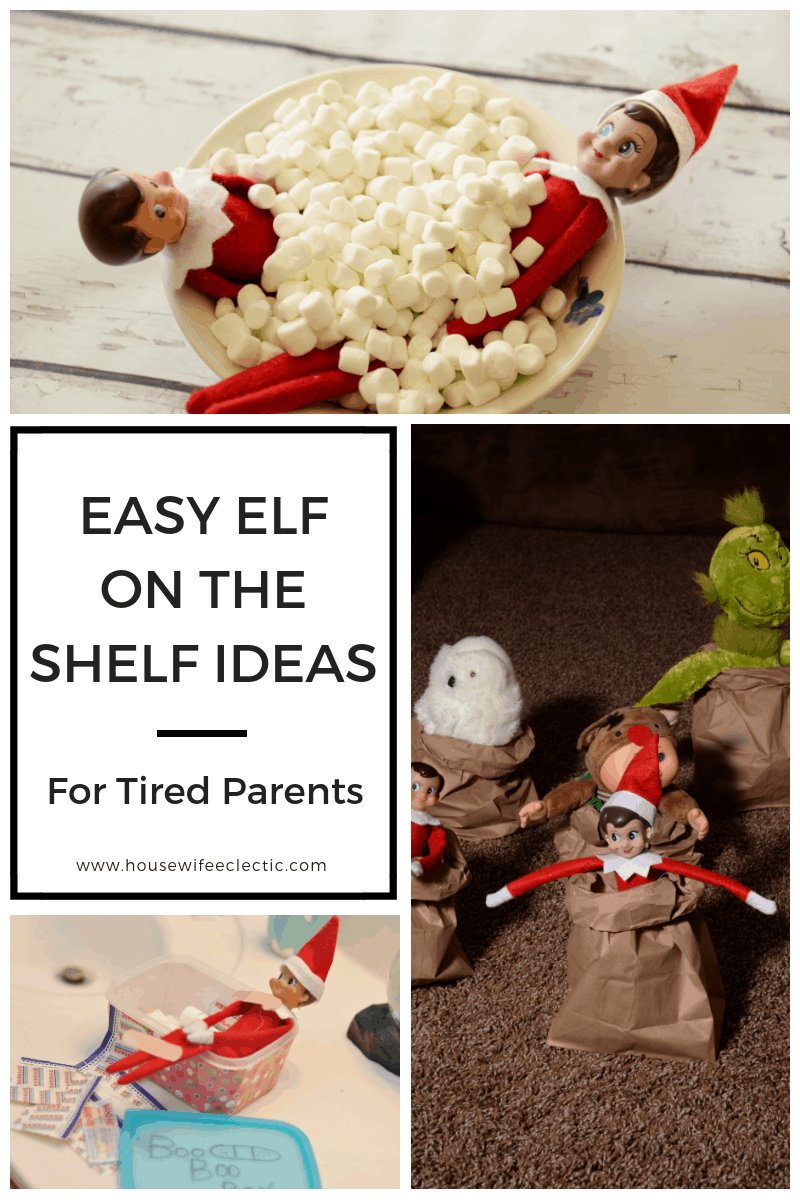 Easy Elf On The Shelf Schedule For Tired Parents Housewife Eclectic
