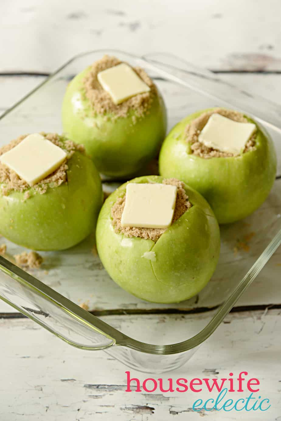 Brown Sugar Stuffed Baked Apples: Apples topped with butter