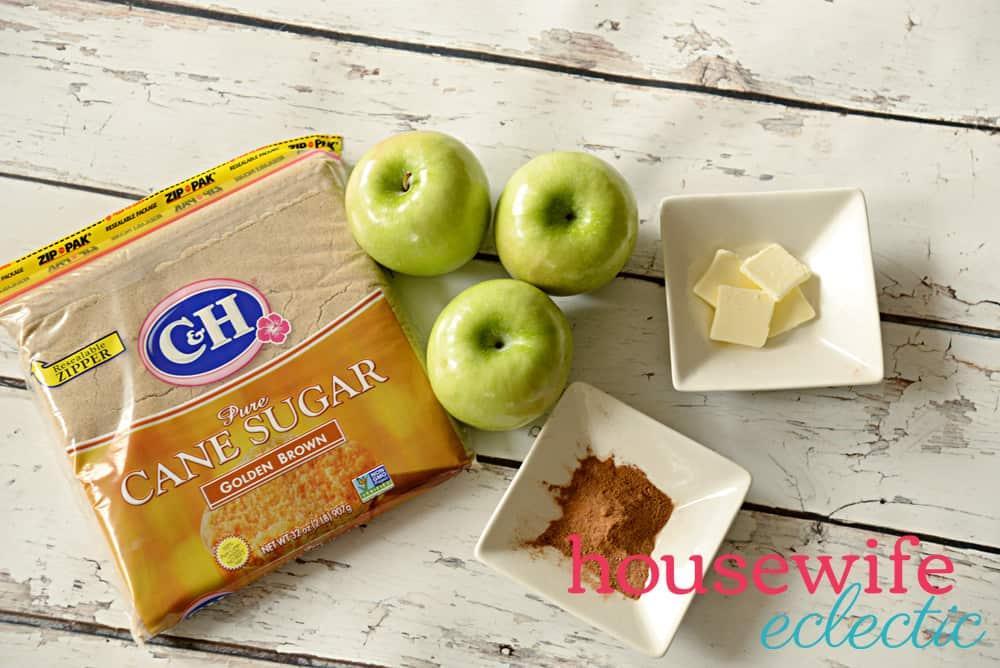 Brown Sugar Stuffed Baked Apples Ingredients