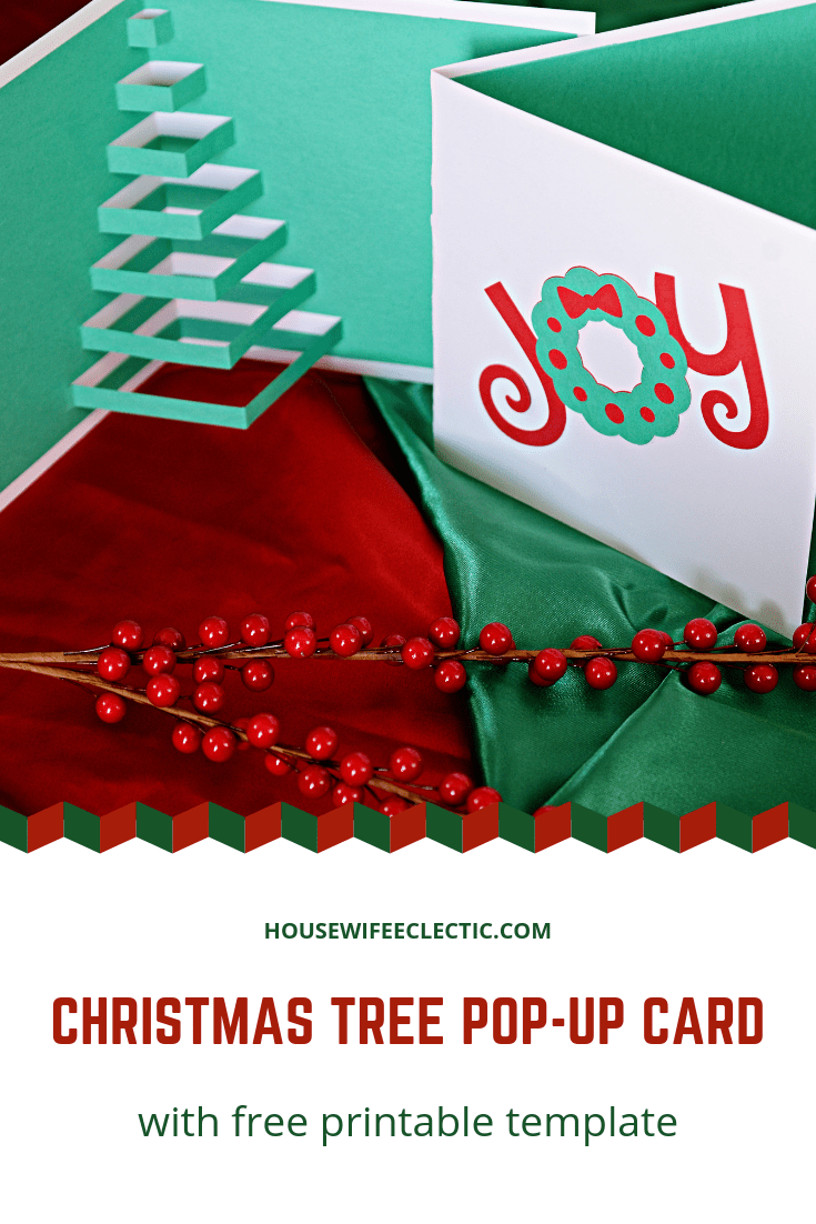 Homemade Pop-Up Christmas Tree Card (with Free Printable ...