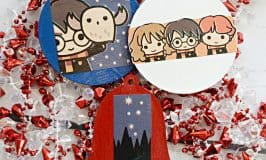 Harry Potter Wrapping Paper Ornaments