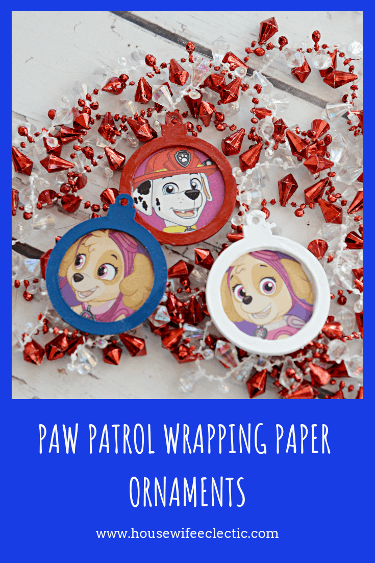 Paw Patrol Wrapping Paper Ornaments