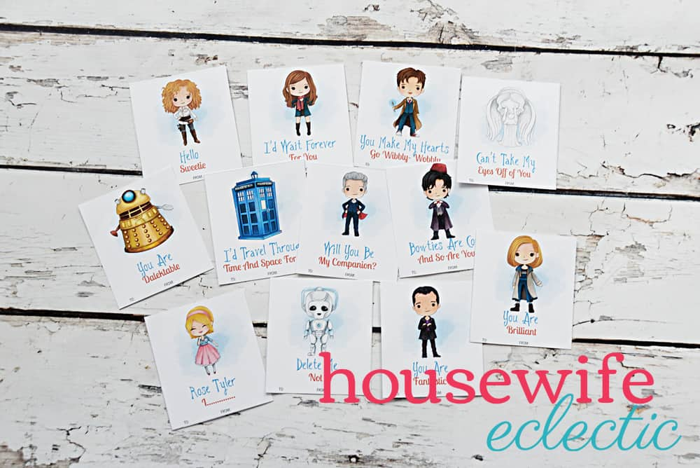 free printable doctor who valentines housewife eclectic
