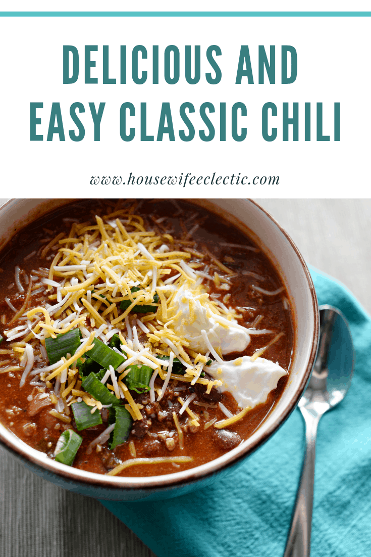 Housewife Eclectic: Easy Classic Chili