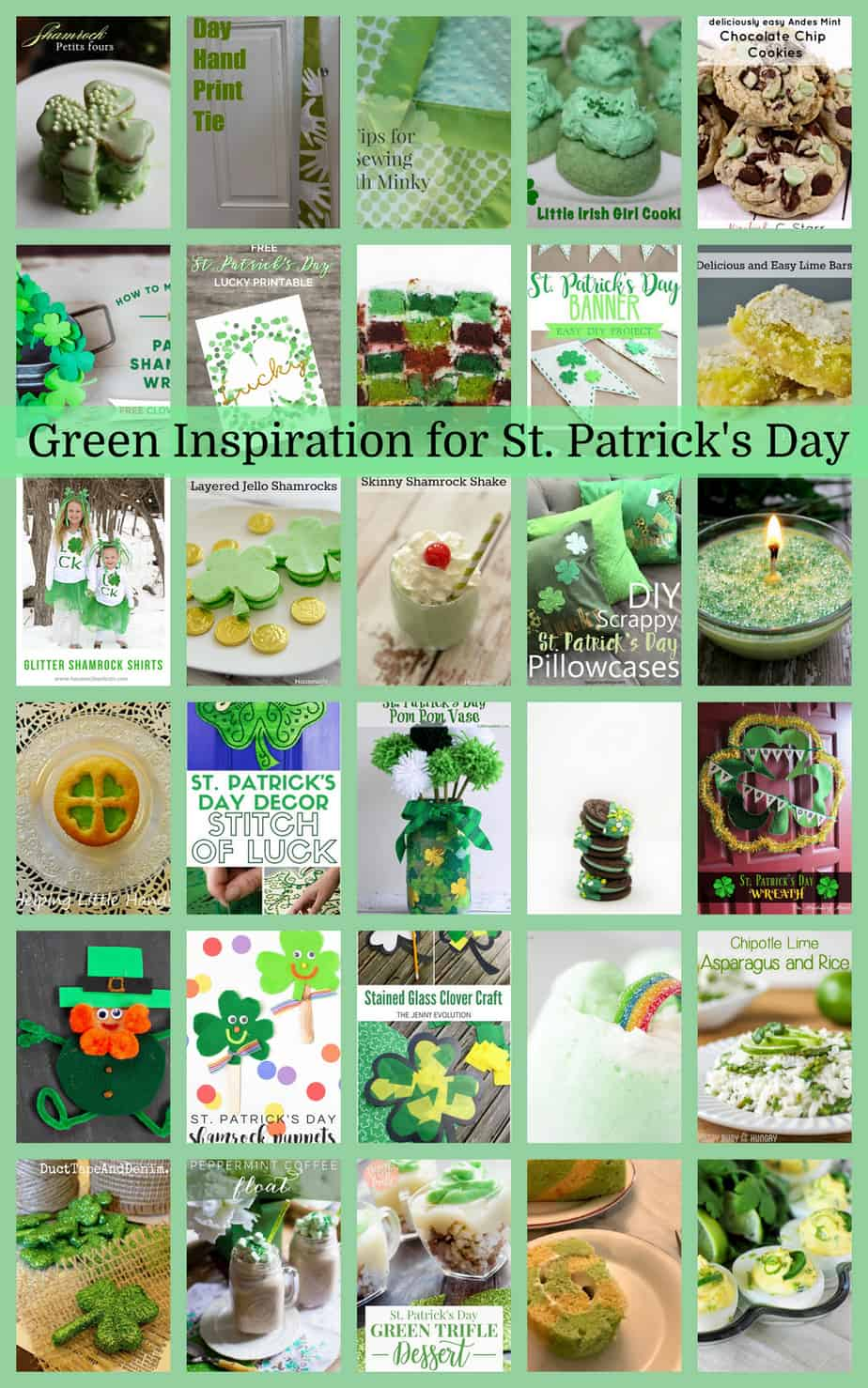 Green Inspiration for St  Patrick's Day {MMM #470 Block