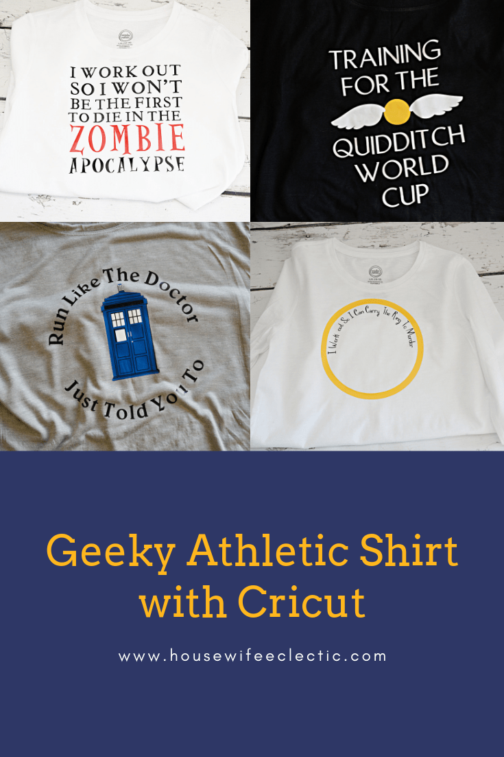 Geeky Athletic Shirts with Cricut