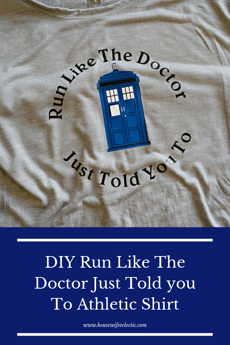 Geeky Athletic Shirts with Cricut - Doctor Who TARDIS Shirt