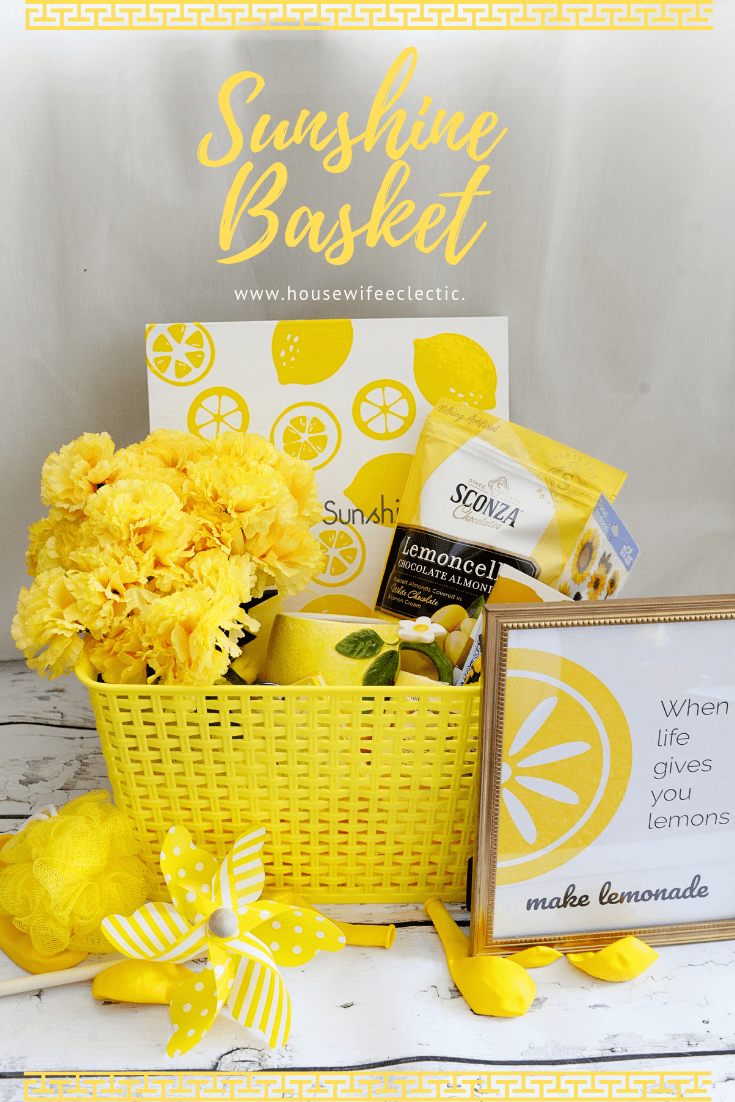 graphic about Basket of Sunshine Printable titled Solar Basket with absolutely free printables - Housewife Eclectic