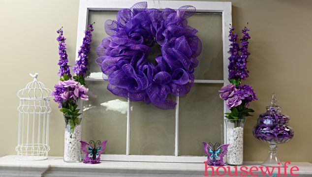 Purple Spring Mantel