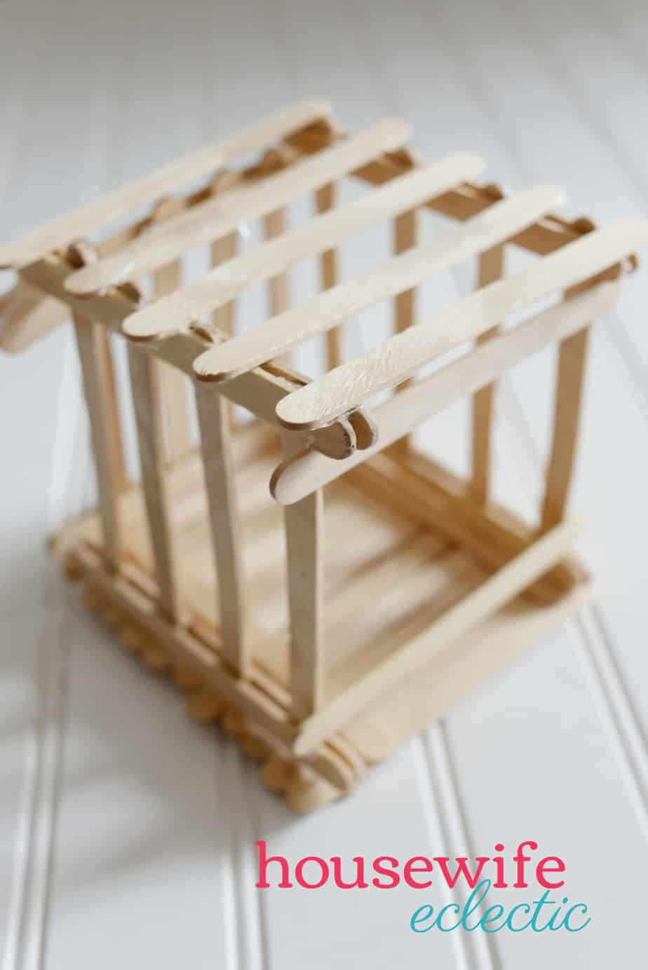 Housewife Eclectic: Popsicle Stick Cage