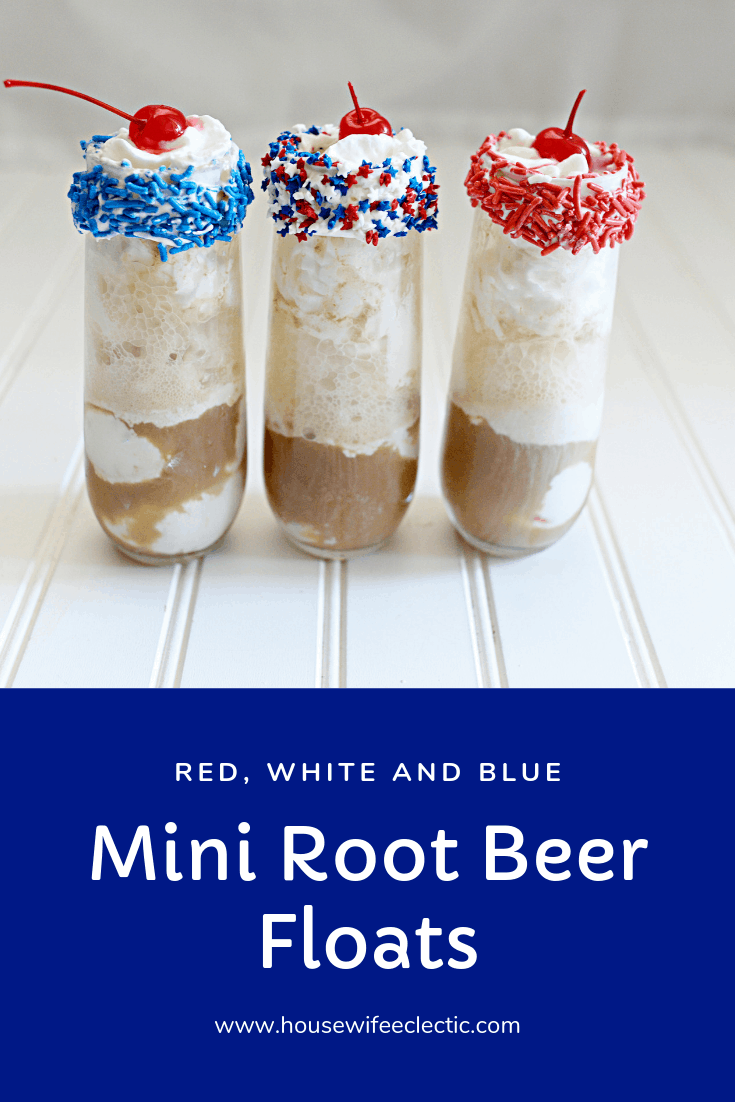 Housewife Eclectic: Red, White and Blue Root Beer Floats