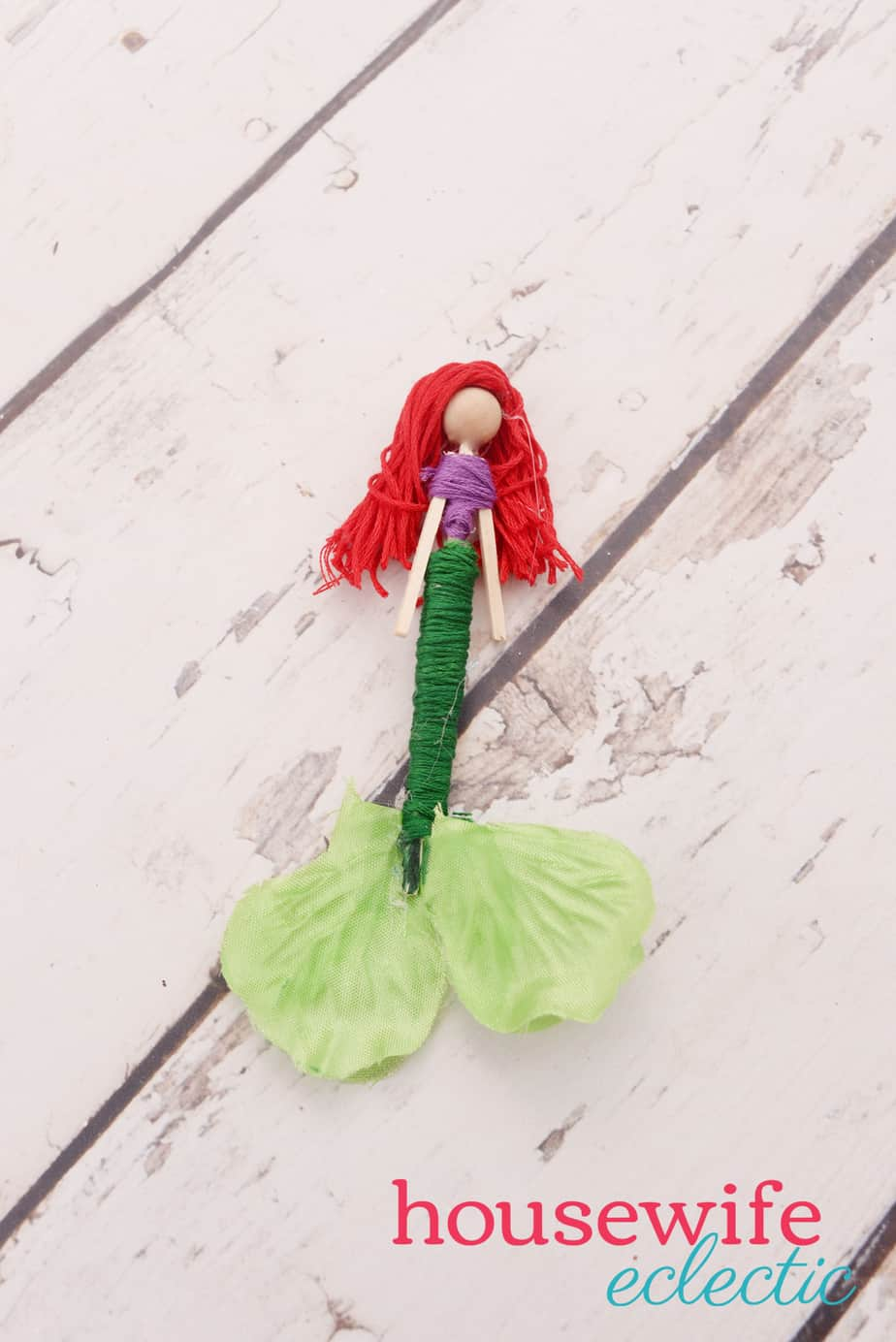 Housewife Eclectic: DIY Mermaid Ariel Worry Dolls