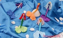 DIY Mermaid Worry Dolls