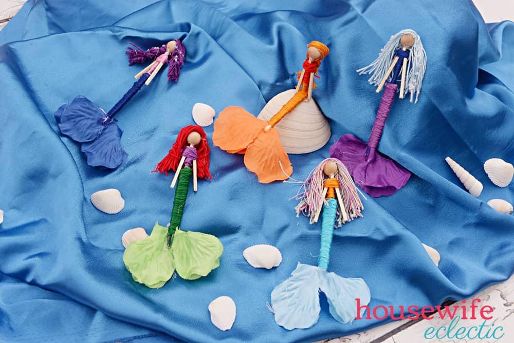 Housewife Eclectic: DIY Mermaid Worry Dolls