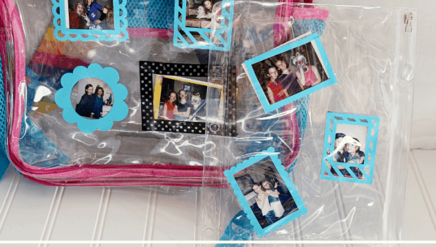 Instant Photo Frame Backpack with Cricut