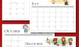 Free Harry Potter 2020 Printable Calendar