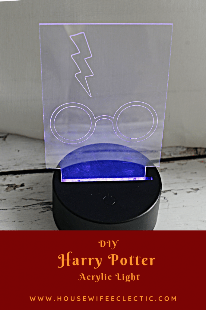 Harry Potter Acrylic Night Light With Cricut Housewife Eclectic
