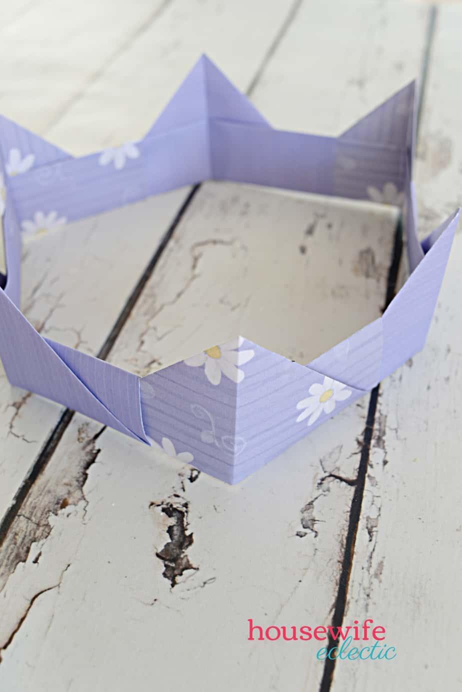 3D origami crown (diadem, corona) tutorial | Origami crown, 3d ... | 1384x924